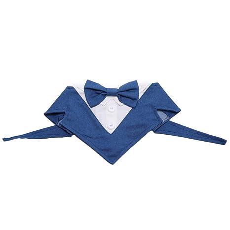 POPETPOP - Corbata para Mascotas con Cuello y Pajarita, Ideal para ...