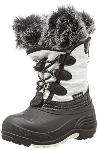 Kamik Powdery Snow Boot , White, 4 M US Big Kid