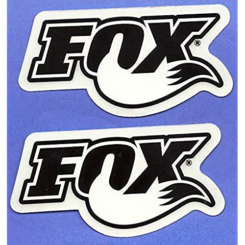 Fox shocks racing decals stickers set of 2 dirt bike motorcycles supercross motocross atv