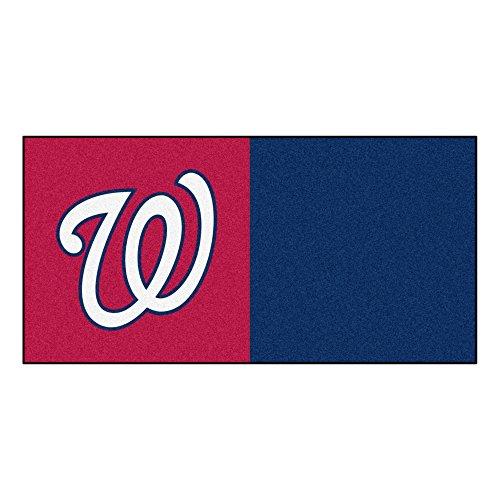 FANMATS MLB Washington Nationals Nylon Face Team Carpet Tiles