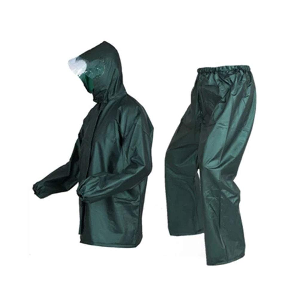 Dark vert XX-grand Goquik VêteHommests imperméables Pantalon imperméable imperméable Costume Split imperméable imperméable Double Costume Unisexe, Vert foncé, Taille Unique Vestes Coupe-Pluie