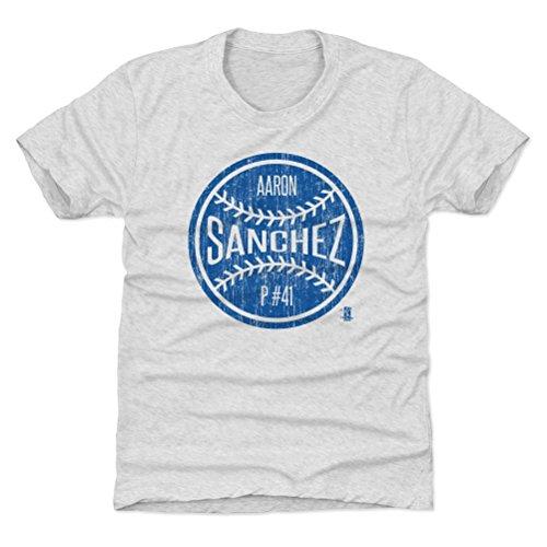 500 LEVEL Toronto Blue Jays Youth Shirt - Kids X-Small (4-5Y) Tri Ash - Aaron Sanchez Toronto Ball B (Toronto Blue Jays Back To Back World Series)