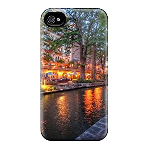 High Grade MichelleNCrawford Flexible Tpu Case For Iphone 4/4s - Beautiful Evening On The Riverwalk