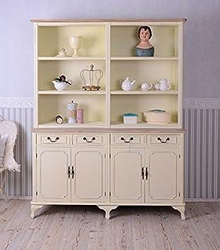 Vintage regal küche  Bücherregal Vintage Regal Landhausstil Bücherschrank Shabby Chic ...