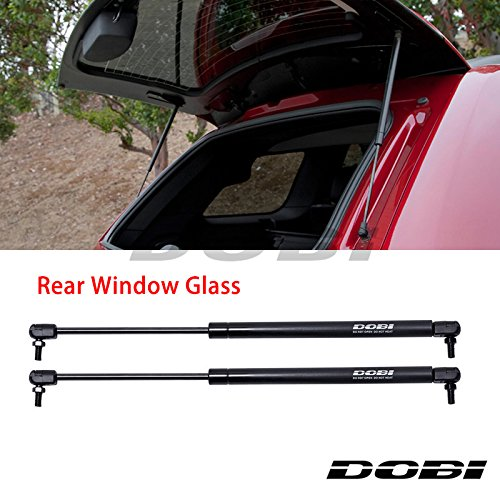 VioletLisa New 2pcs Rear Window Glass Hatch Black Steel Gas Lift Supports Strut Shocks Fit 02-07 Jeep Liberty SG314048