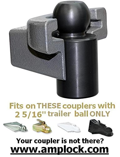 AMPLOCK U-BRP2516 RV/trailer coupler lock (fits 2 5/16 inches coupler) by AMPLOCK