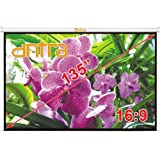 """Antra Electric Motorized 135"""" 16:9 Projector Projection Screen Matte Grey Low Noise Tubular Motor"""