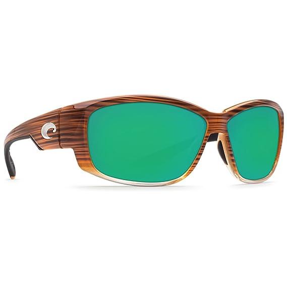 aae4657b1007e New Costa Del Mar LK 81 Luke Wood Fade Rectangular Sunglasses for Mens -  Size 400G (Green Mirror Lens)  Amazon.co.uk  Clothing