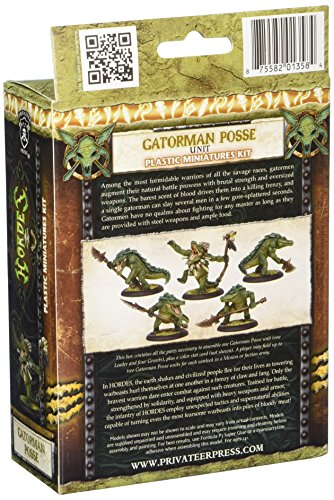 Privateer Press - Hordes - Minion: Gatormen Posse Model Kit 4