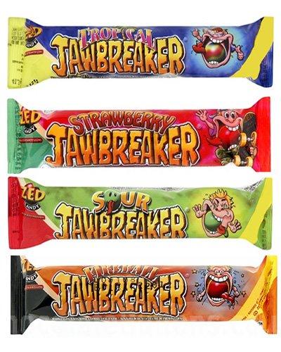 Jawbreaker Mixture 4 Pack Mix (Fireball, Tropical, Sour, Strawberry)