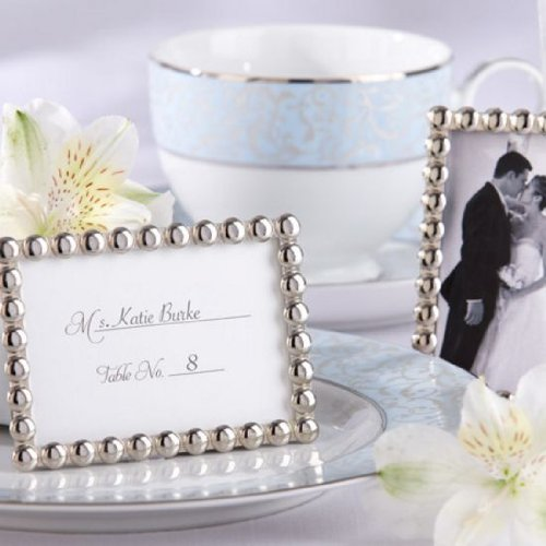25 ''Silver Pearls'' Mini Photo Frame by Unknown