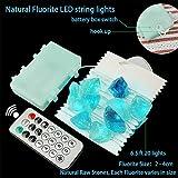 BOHON Natural Fluorite String Lights Battery