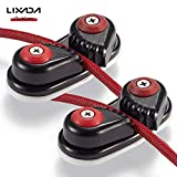 Lixada 2PCS Kayak Cam Cleat Boat Canoe Sailing Boat Dinghy Aluminum Cam Cleats Fast Entry Kayak Cleats