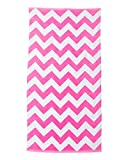 Carmel Print Beach Towel (Perfect Pink Chevron) (ALL)
