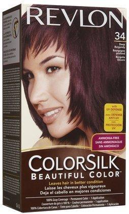 Colorsilk Permanent Haircolor - Deep Burgundy (34/3DB) (Quantity of 5) by Revlon