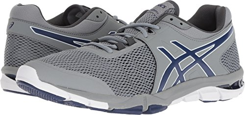 4 Mens Craze Gel ASICS Trainer Grey Blue Print Cross TR Stone qIS6H