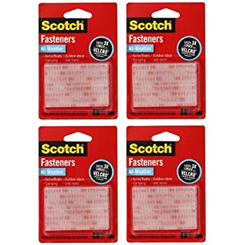 3M Scotch All-Weather EZPass iPass Fastlane Toll Fasteners, 8 Sets of 1 Inch x 3 Inches Strips, Clear (RFD7090)