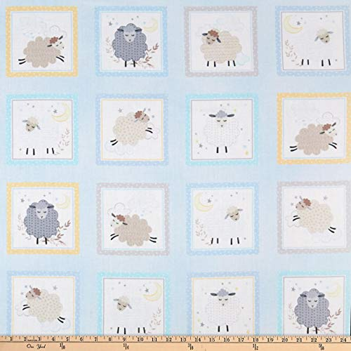 Kanvas Sweet Dreams Sweet Dreams Boxes Baby Blue Fabric by The Yard