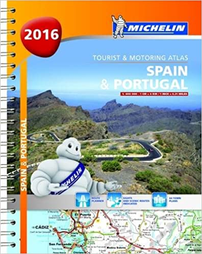 Spain /& Portugal 2016 Michelin Tourist and Motoring Atlas