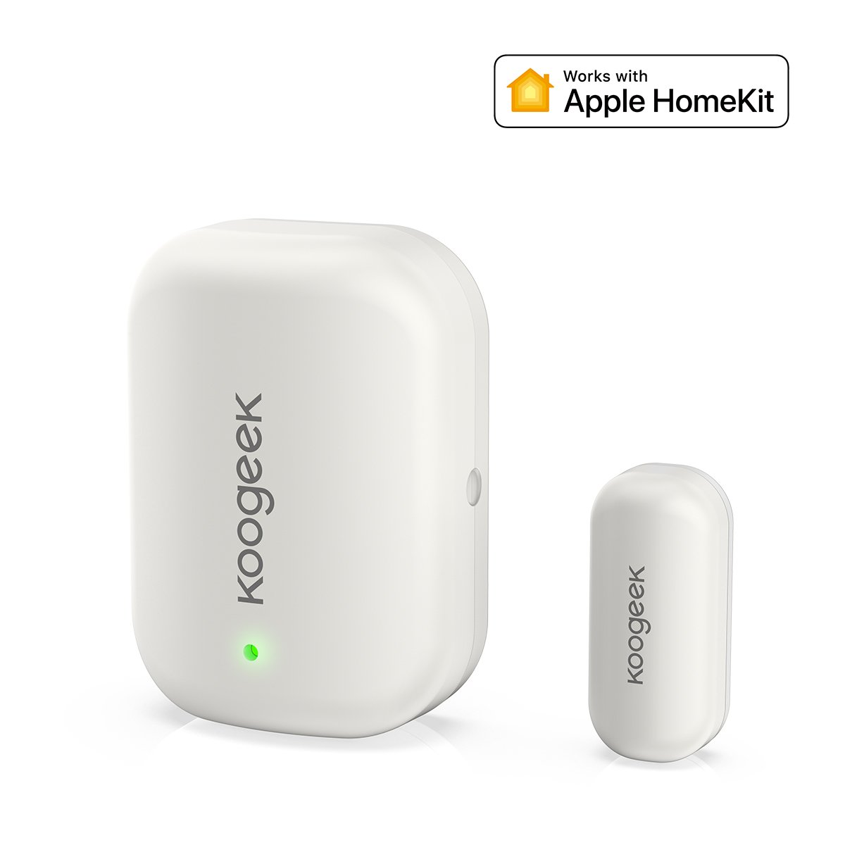 Koogeek Door Window Sensor Work with Apple HomeKit No Hub Required Replaceable Battery Automatic Trigger Remote for Doors Windows Cabinets and More