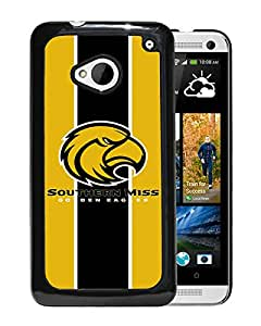 NCAA Southern Miss Golden Eagles 2 Black Customize HTC ONE M7 Phone Cover Case