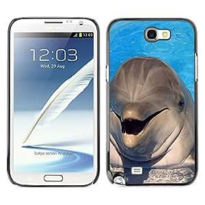 - Dolphins - - Slim Guard Armor Phone Case FOR Samsung Galaxy Note2 N7100 N7102 N7108 Devil Case