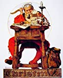 Norman Rockwell Christmas Santa Reading Mail 1935 Art Print - 8 in x 10 in - Unmatted, Unframed