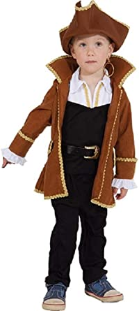 7 pc Captain Pirate Caribbean Buccaneer Coat Dress Up Adult Halloween Costume