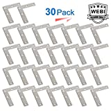 WEBI Heavy Duty Stainless Steel Corner Braces,Large Right Angle Brackets, Joint Fastener, Shelf Support for Wood Furniture, Chests, Screens, Windows