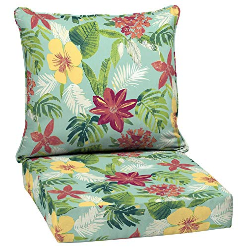 Arden Selections 24 x 24 Elea Tropical 2-Piece Deep Seating Outdoor Lounge Chair Cushion (Arden Cushions Outdoor)