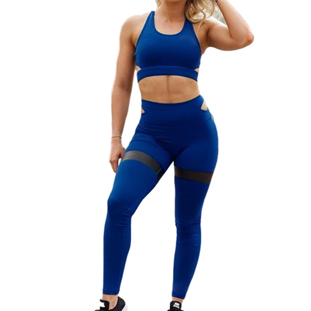 Morbuy Bekleidung Yoga Set, Komfort Damen Sport BH Jogginghose Sport Leggings Yoga Hose Trainingshose Sport Bustier Ohne Bügel Yoga Fitness Training
