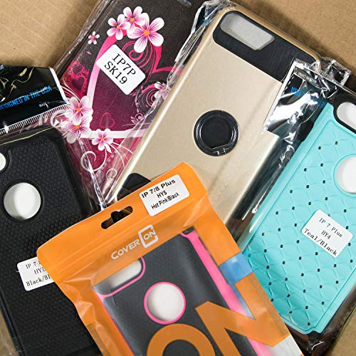 CoverON Wholesale Lot of 60 Bulk Apple iPhone 8 Plus/iPhone 7 Plus Phone Cases - Various Styles/Colors from CoverON