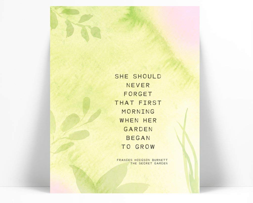Amazon Com The Secret Garden Quote Art Print Poster 5 Sizes