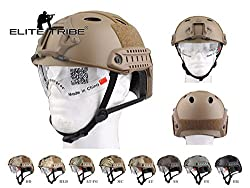 Paintball Equipment FAST Helmet With Protective Goggle PJ ABS Tactical Military Airsoft Helmet