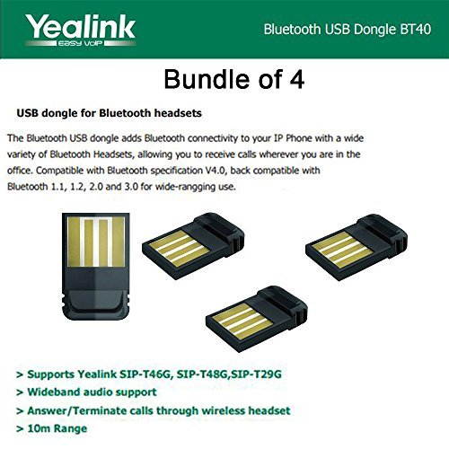 Yealink BT40 BundleX4 Bluetooth USB Dongle for Yealink SIP-T46G,-T48G,-T29G by Yealink
