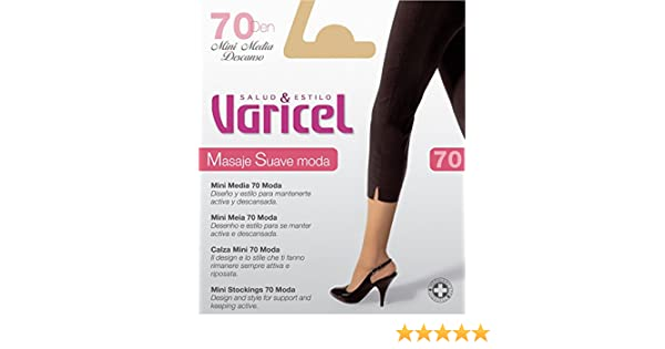 Minimedia 70 compresión suave 11/14 mmHg elástico que no aprieta, compresión graduada suave (NATURAL, P): Amazon.es: Salud y cuidado personal