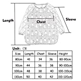 F&C Toddler Baby Waterproof Sleeved Bib With