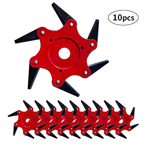 MOGOI Trimmer Head 6 Steel Blades Razors 65Mn Lawn Mower Grass Weed Eater Brush Cutter Tool, Universal Fit 99% Strimmers and Brush Cutters Mowing Head Tool - Universal Grass