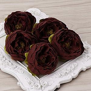 Susada 5Pcs Artificial Peony Flower Heads DIY Craft For Home Room Wedding Party Decor 10