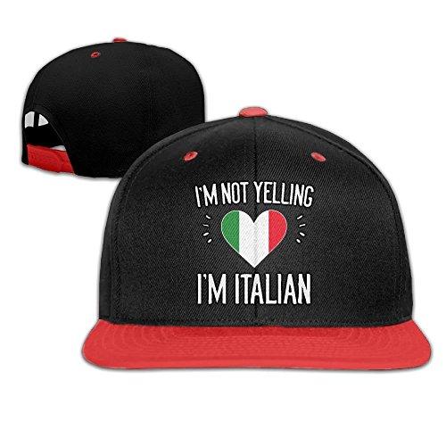 Mens/Womens Hip-hop Hats I'm Not Yelling I'm Italian Adjustable Custom Cap ()