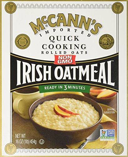 McCANN'S Irish Oatmeal, Quick Cooking Rolled Oats, 16-Ounce Boxes (Pack of 6) (Steamed Rolled Oats)