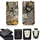 Camouflage Nylon Turtleback Rugged Heavy Duty Snap Closure Case with Belt Loop Clip and Steel Clip fits Sonim XP7.