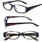 MIDI Square Tortoise Reading Glasses for Women (M-207N) Designed in Japan / Fine Spring Hinge for Comfort fit / Available in 3 Chic Colors (+2.00, Tortoise Blue)