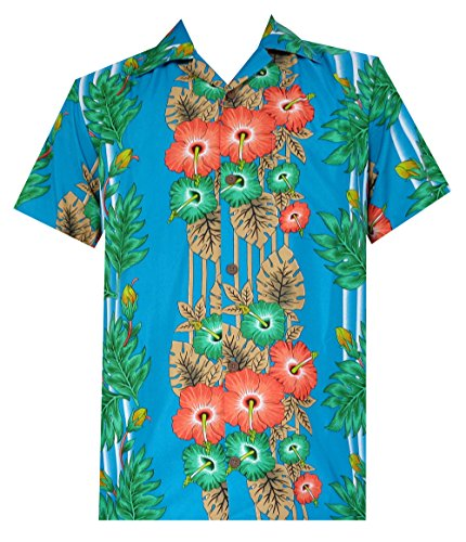 3d2aee48 Alvish Hawaiian Shirt Mens Panel Floral Beach Aloha Party Camp Holiday  Short Sleeve