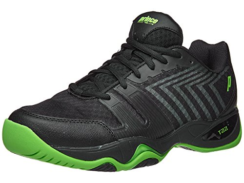 Prince T22 Lite Black/Green Men's Shoe (Prince Mens Tennis Shoes)