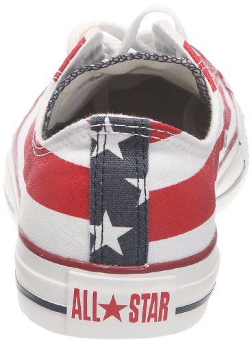 top quality online best Converse Unisex Kids' Chuck Taylor All Star Ox Low-Top Sneakers Multicolour (Stars & Bars 602) GOkfM9