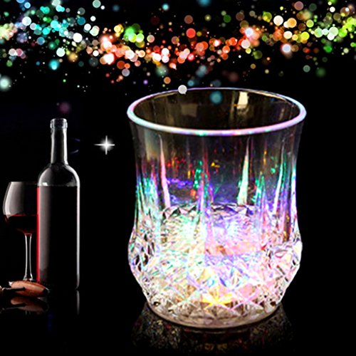 Cicitop LED Light up Cups Coloful Drink Cup Plastic Liquid Inductive Color Cups Halloween Home Decoration Night Club Party Supplies ()