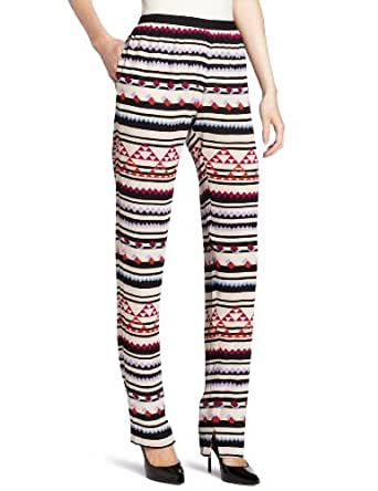 BCBGMAXAZRIA Women's Michael Relaxed Pant, Bright Raspberry Combo, Small