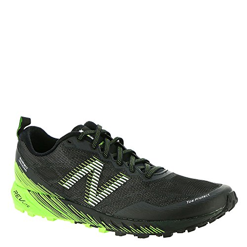 New Balance Men's Summit Unknown Trail Running Shoe, Black/Lime, 10 D US
