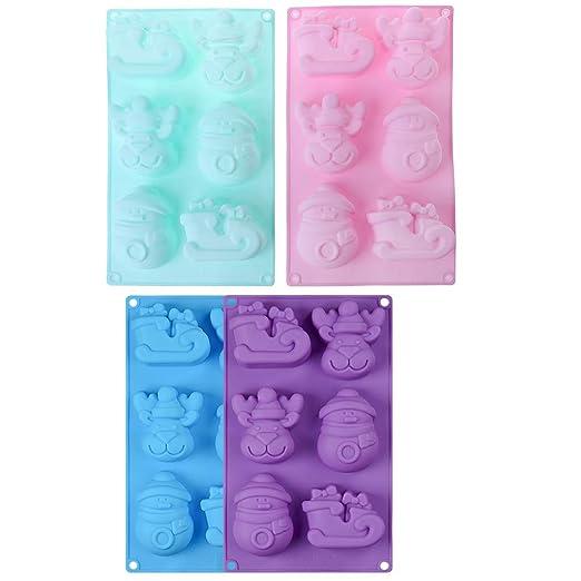 Manyo moulessilicone jabón 3D cortadores de muñeco de Nieve/Reno ...